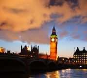 Big Ben in the evening, London, England Royalty Free Stock Photography
