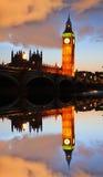 Big Ben in the evening, London, England Royalty Free Stock Photos