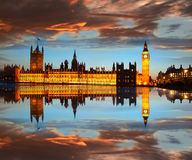 Big Ben in the evening, London, England. Famous Big Ben in the evening, London, England Stock Photography