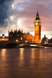 Big Ben in the evening, London, UK Royalty Free Stock Photos
