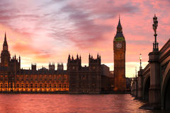 Big Ben in the evening, London, UK Royalty Free Stock Photography