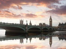 Big Ben in the evening, London, UK Royalty Free Stock Photos