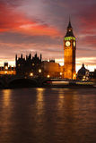 Big Ben in the evening, London, UK Stock Images