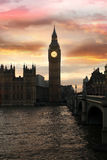 Big Ben in the evening, London, UK. Big Ben in the evening, London in UK Stock Photography