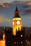 Big Ben in the evening, Westminster, London Royalty Free Stock Image