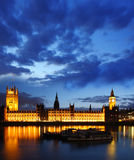 Big Ben in the evening, Westminster, London Royalty Free Stock Photos