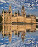 Big Ben in the evening, Westminster, London Stock Photos