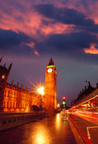 Big Ben in the evening, Westminster, London Royalty Free Stock Images
