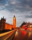 Big Ben in the evening, Westminster, London Royalty Free Stock Photo