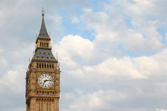 Big Ben is famous English clock Stock Images