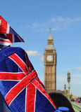 Big Ben with flag Stock Photography