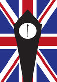 Big Ben Flag Royalty Free Stock Photo