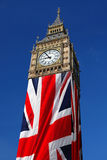 Big Ben with flag, Westminster, London Royalty Free Stock Photography