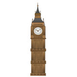 Big Ben form paper art isolated on white Royalty Free Stock Images