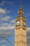 Big Ben and Golden Eye, London Royalty Free Stock Images
