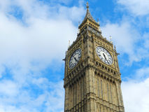 Big Ben - the Great Bell - London. Big Ben, is the nickname for the Great Bell at the Palace of Westminster, London. It is one of the most famous clock towers in Stock Photos