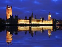 Big Ben House of Parliament. Big Ben and House of Parliament at twilight Stock Image