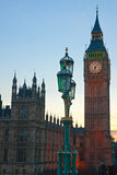 The Big Ben, the House of Parliament Stock Images