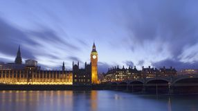 Big Ben and House of Parliament. Night scene in London city Royalty Free Stock Photography