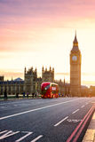 The Big Ben, House of Parliament and double-decker bus blurred i Royalty Free Stock Photo