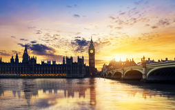Big Ben and House of Parliament Stock Photography