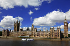 Big Ben and the House of Parliament, London Royalty Free Stock Photos