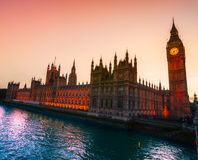 The Big Ben and the House of Parliament, London. Royalty Free Stock Photos