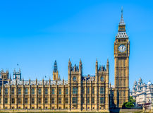Big Ben and House of Parliament in London Stock Photography