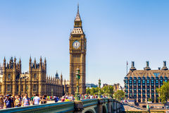 Big Ben and House of Parliament in London Stock Image