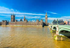 The Big Ben and the House of Parliament, London. Royalty Free Stock Images
