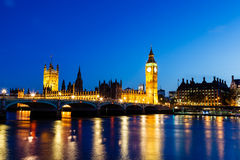 Big Ben and House of Parliament at Night Royalty Free Stock Photography