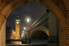 Big Ben and House of Parliament at Night.  Royalty Free Stock Image