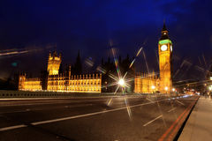 Big Ben and the House of Parliament Stock Photos