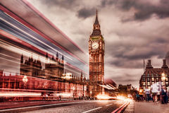 The Big Ben and the House of Parliament at night, London, UK Royalty Free Stock Photo