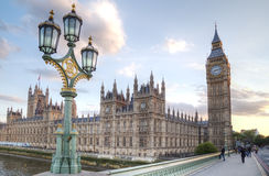 Big Ben and House of Parliament at Night. London, United Kingdom Royalty Free Stock Photos