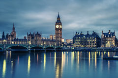 Big Ben and House of Parliament at Night Stock Photography