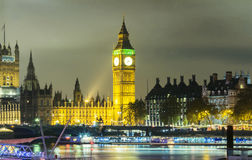 Big Ben and House of Parliament at Night, London. Royalty Free Stock Image