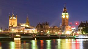 Big Ben and House of Parliament at night, London. Stock Photo