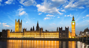 Big Ben and House of Parliament at River Thames International La Stock Photo