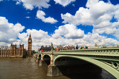 Big Ben and house of parliament on Sunny Day, London Royalty Free Stock Photography
