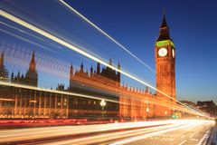 Big Ben and house of parliament at twilight, London Royalty Free Stock Images