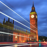 Big Ben and house of parliament at twilight, London, UK Stock Images