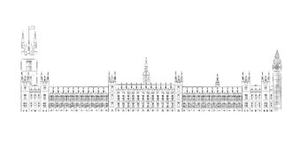 Big Ben and House of Parliament vector illustratio Stock Images