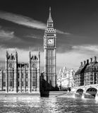 The Big Ben, the House of Parliament and the Westminster Bridge. Royalty Free Stock Photo