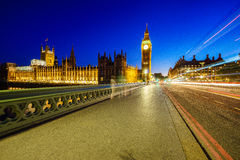 Big Ben and houses of parliamen in London at night Stock Photography