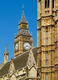 Big Ben and Houses of Parliament. Famous british landmark in detail Royalty Free Stock Image