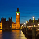 Big Ben and Houses of Parliament. At night, London, UK Stock Image