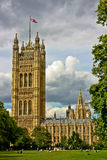 Big Ben & The Houses of Parliament. A view of the London Houses of Parliament from the lawn Stock Image