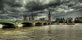 Big Ben and Houses of Parliament. Houses of Parliament, London, UK Stock Photo