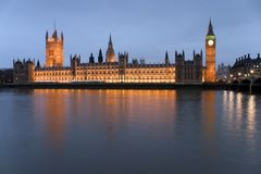 The Big Ben and the Houses of Parliament Royalty Free Stock Photos